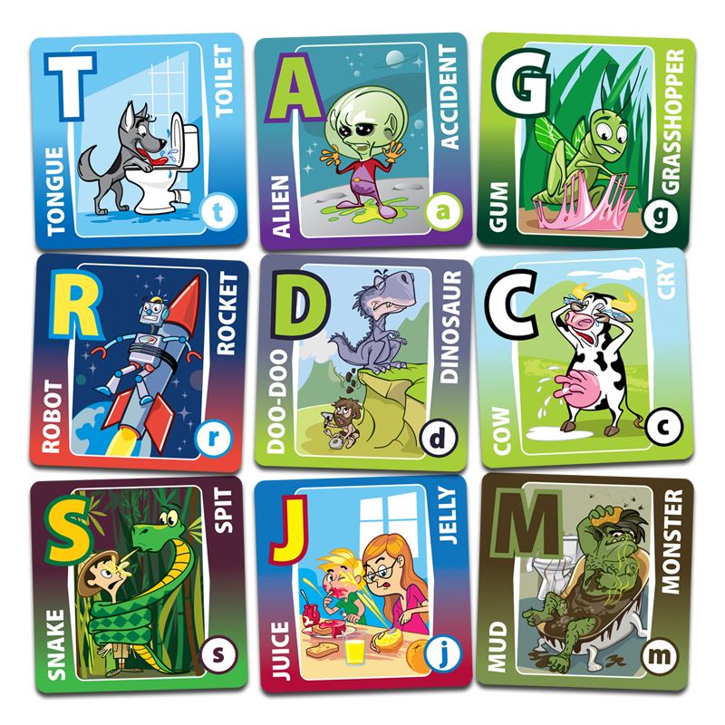 Silly Matching Alphabet Cards Alpha Cards ABC Memory Matching Game