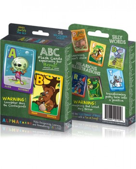 Fun ABC Flash Cards for Boys